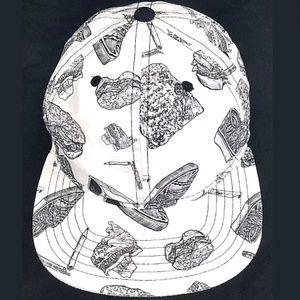 NEFF WHITE & BLACK SNAPBACK CAP